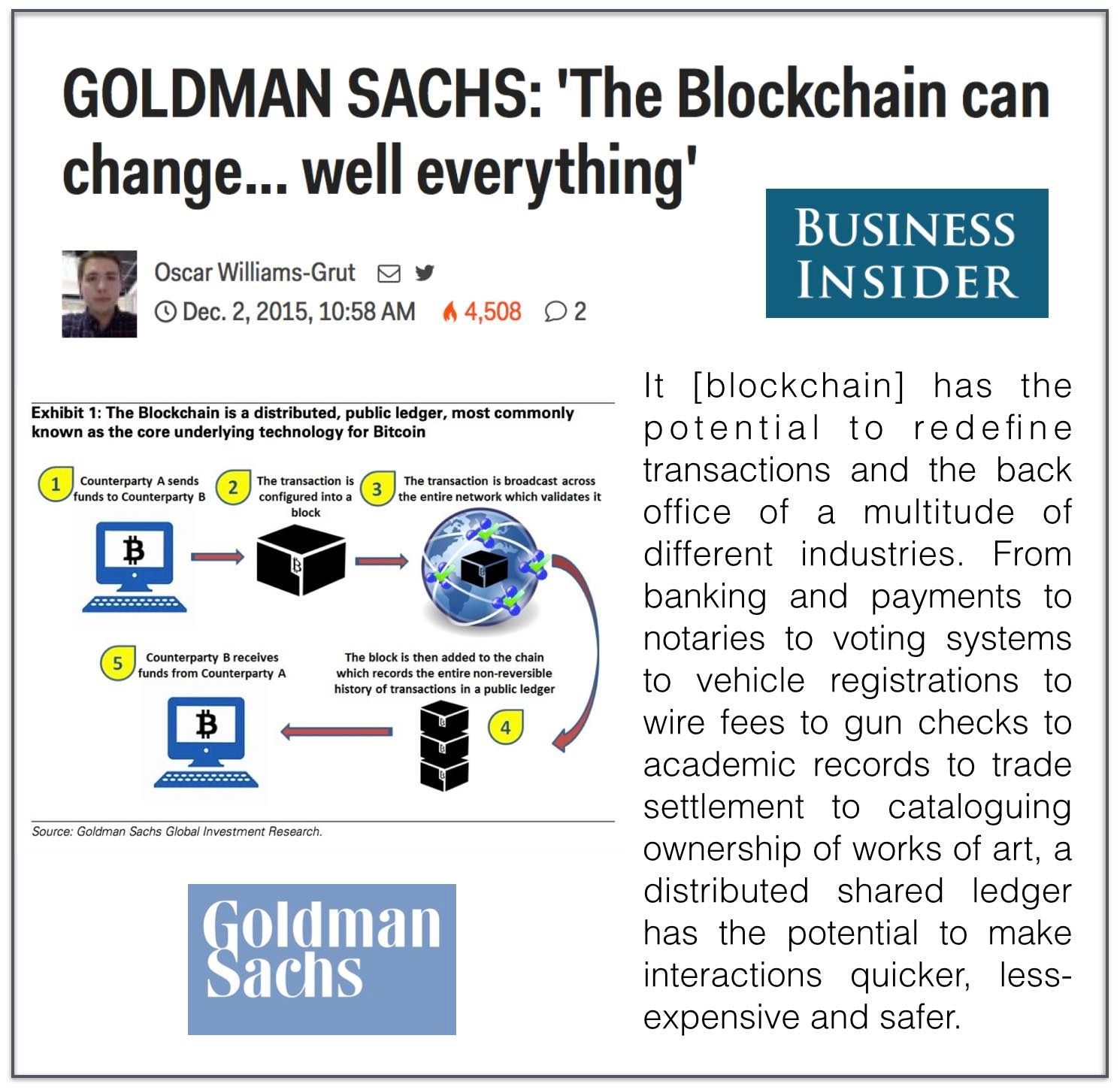 goldman sachs industry report