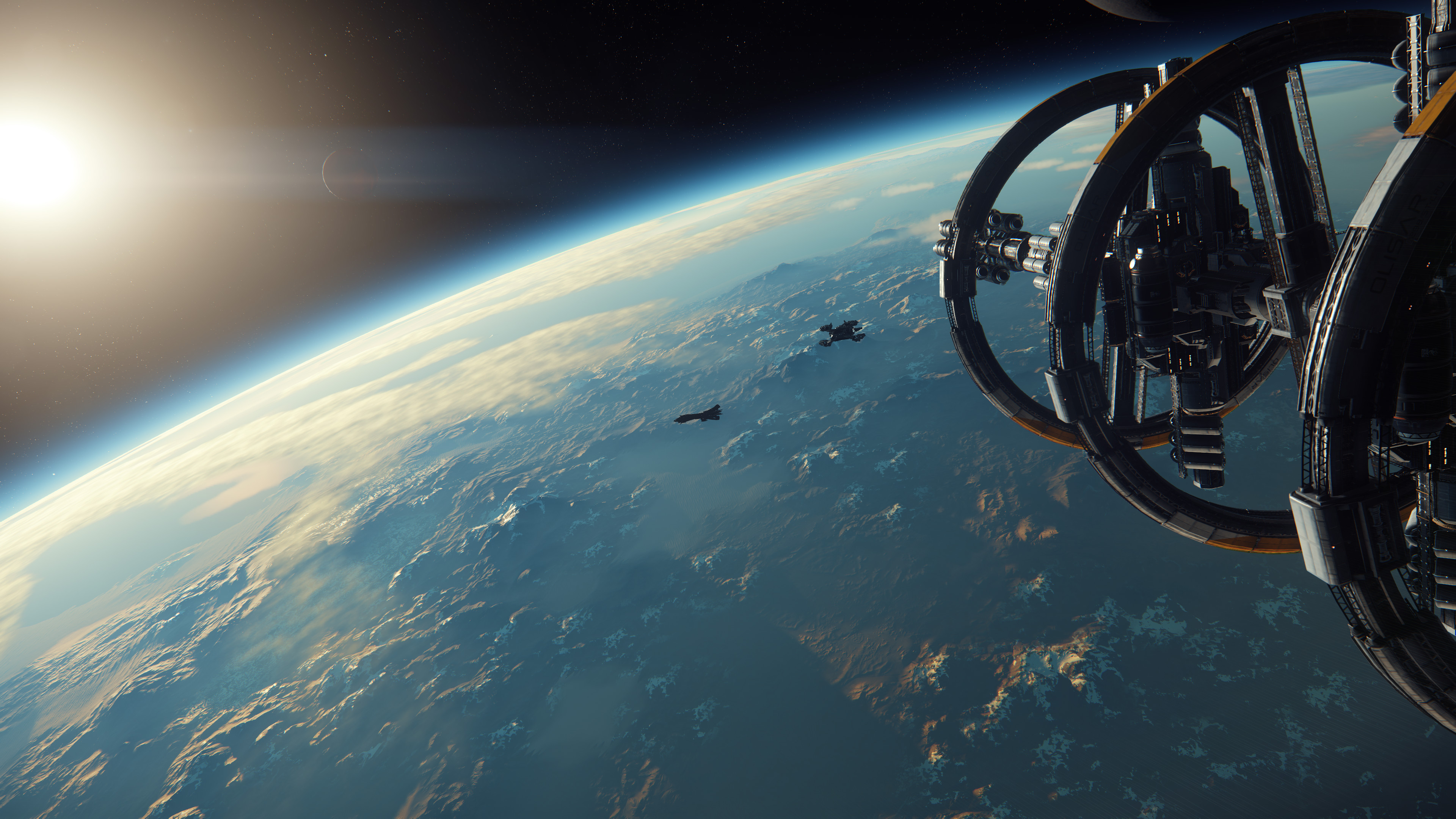 Star Citizen land outer space.